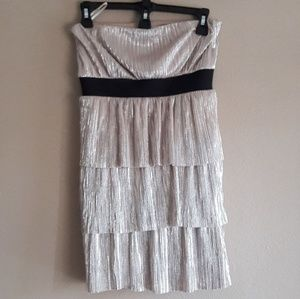 Forever 21 Strapless taupe Mini Dress Size Small